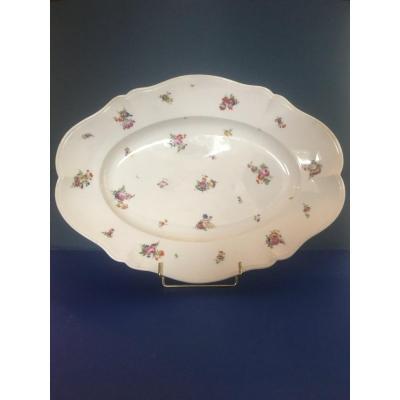 Ovale Dish    XVIII Century -manufacture De Clignancourt - Paris