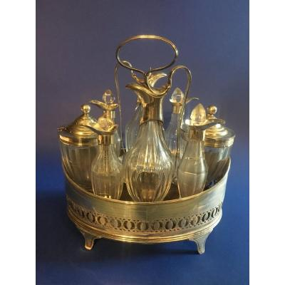 Condiment Set  In Crystal And Silver - London 1791