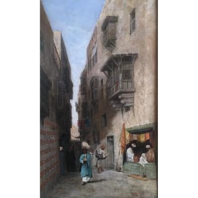 Robert Magnus Chevalier. Oil On Canvas.