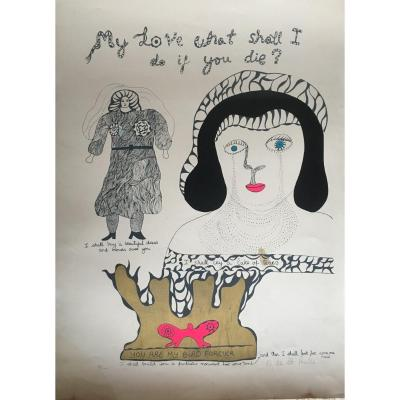 Niki De Saint Phalle . Lithographie Nana Power  1970