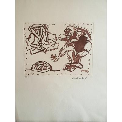 Pierre Alechinsky Lithographie
