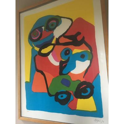 Karel Appel Lithograph Signed, Dated And Numbered