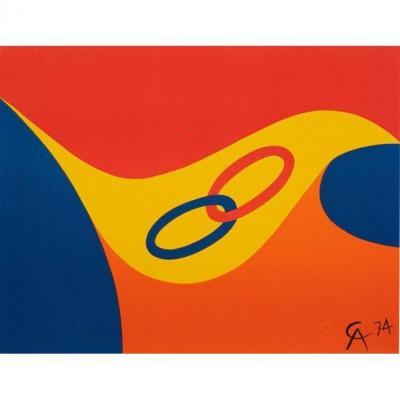 """Alexander CALDER  Lithographie originale de 1974  """"Friendship"""""""