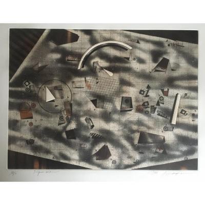 Assadour  Lithographie De 1988 Signée, Numérotée, Titrée Et Datée Au Crayon.