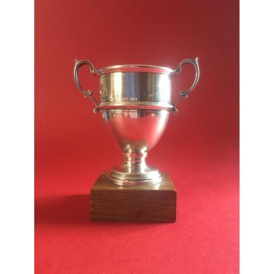 Trophée Signé Cartier En Argent Massif