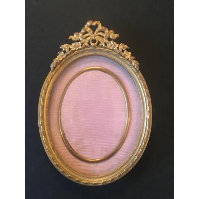 Cadre Ovale en Bronze doré - Napoléon III