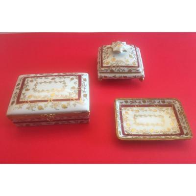 Ensemble de 3 pièces de porcelaine de Le Tallec Paris.