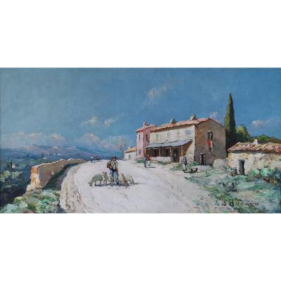 Joseph Hurard 1887-1956  La Route D'avignon, Bellevue Villeneuve Les Avignon / Les Angles.