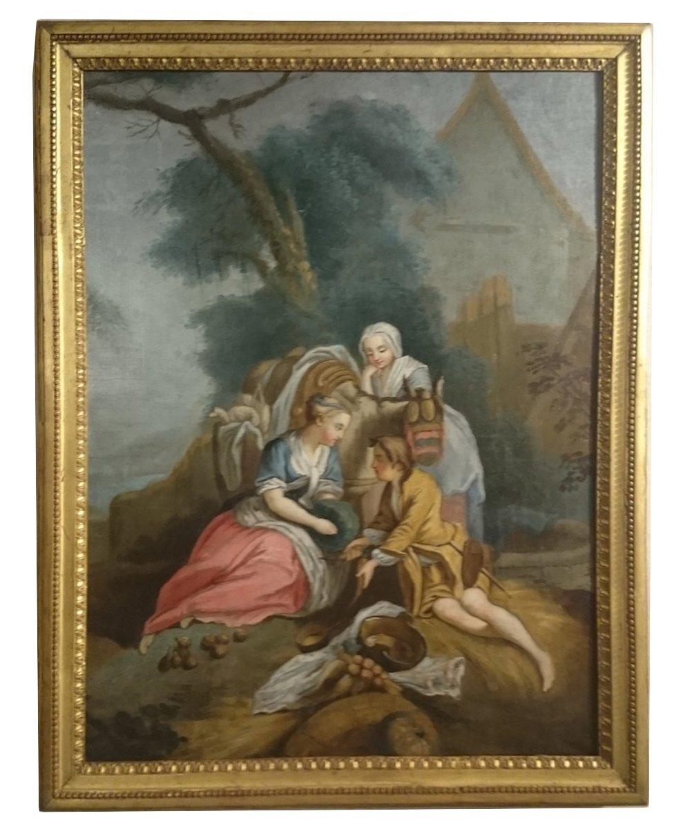 Pastorale Louis XVI Fin XVIIIème Le Déjeuner Sur L'herbe.