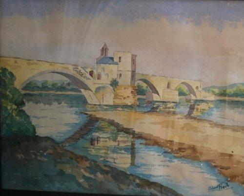 Robert Puech - Le Pont Saint Benezet École Avignonnaise Fin XIX Début XXe