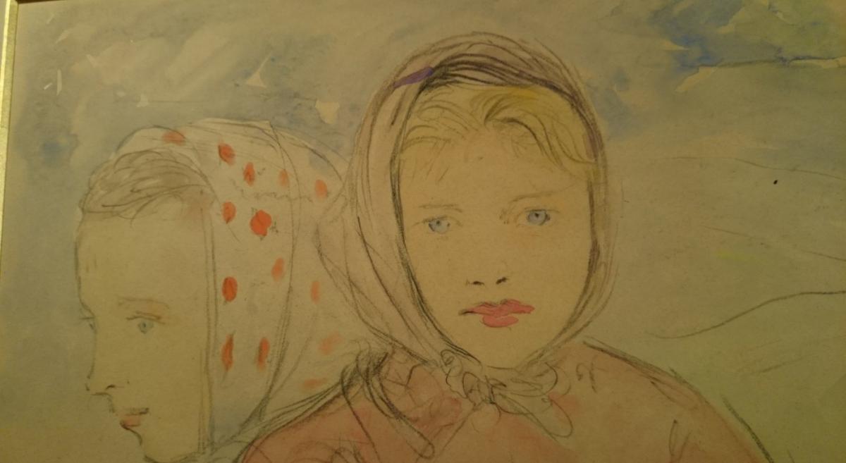 Dezaunay Émile Alfred - Jeunes Filles Blondes Aux Yeux Bleu-photo-2