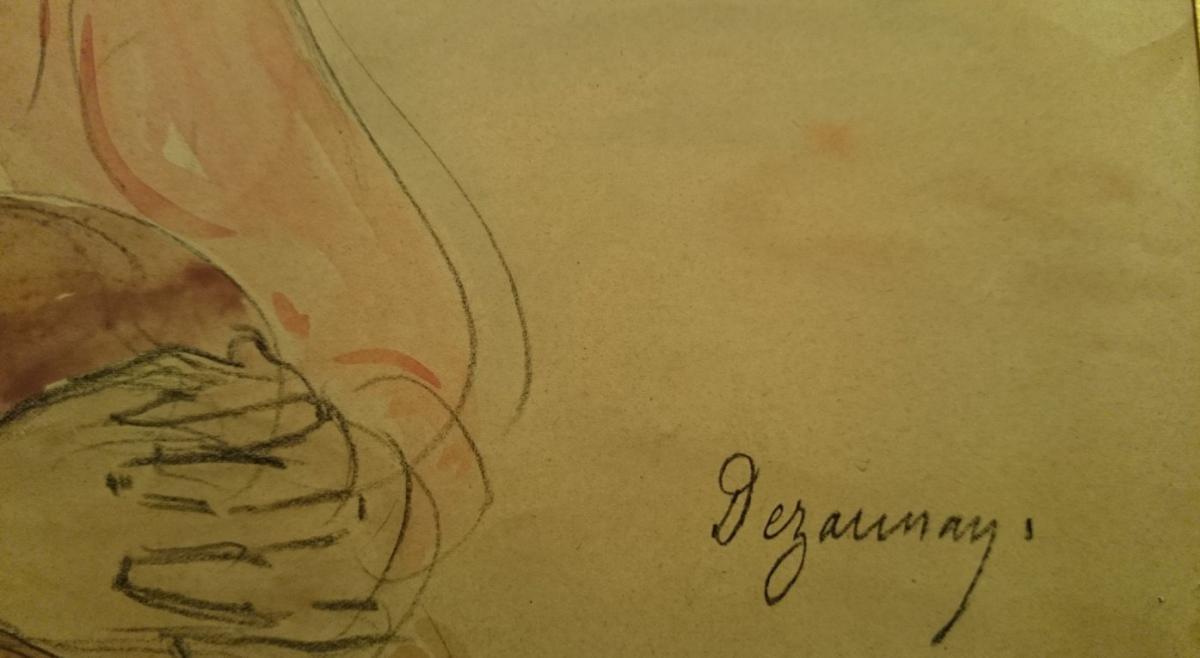Dezaunay Émile Alfred - Jeunes Filles Blondes Aux Yeux Bleu-photo-4