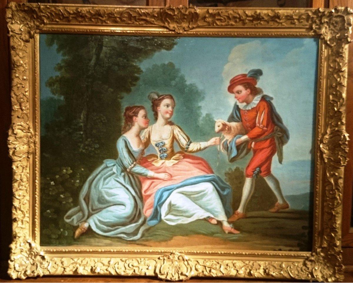 Ecole Française XVIIIe Siècle Suiveur De François Boucher.