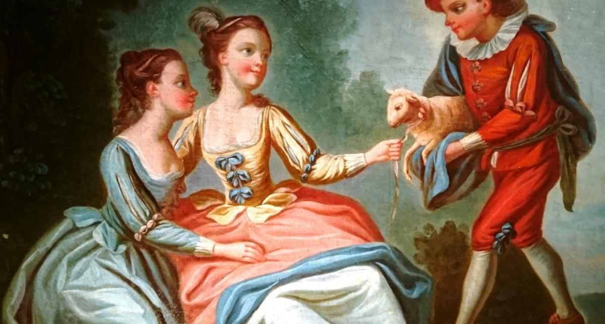 Ecole Française XVIIIe Siècle Suiveur De François Boucher.-photo-3