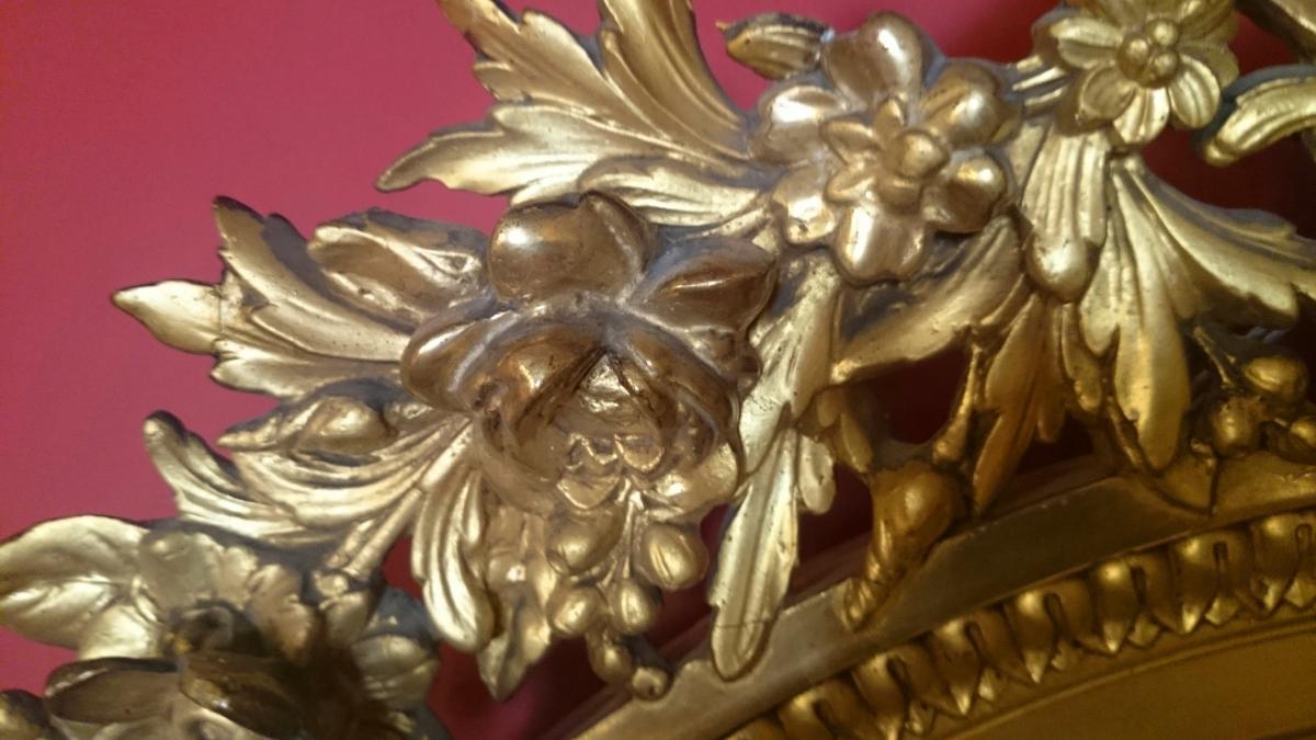 grand miroir ovale haussmannien d 39 poque napol on iii 1855 1865 miroirs. Black Bedroom Furniture Sets. Home Design Ideas