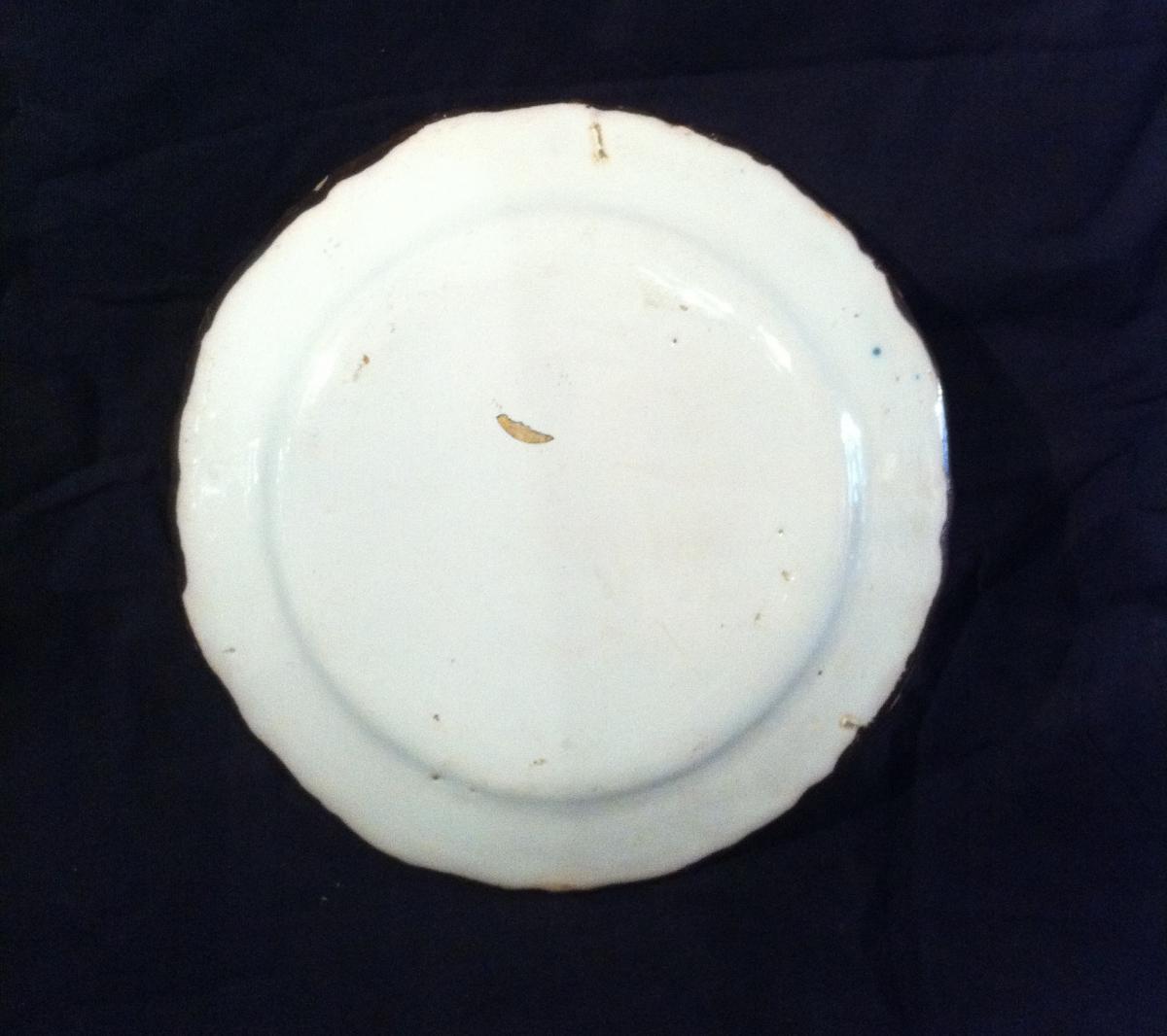 Assiette En Moustiers XVIIIème-photo-2