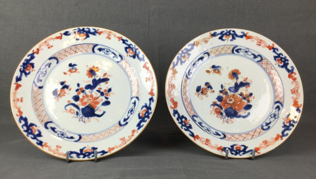 Porcelaine Chine Imari Compagnie Des Indes Orientales XVIIIe Siècle.