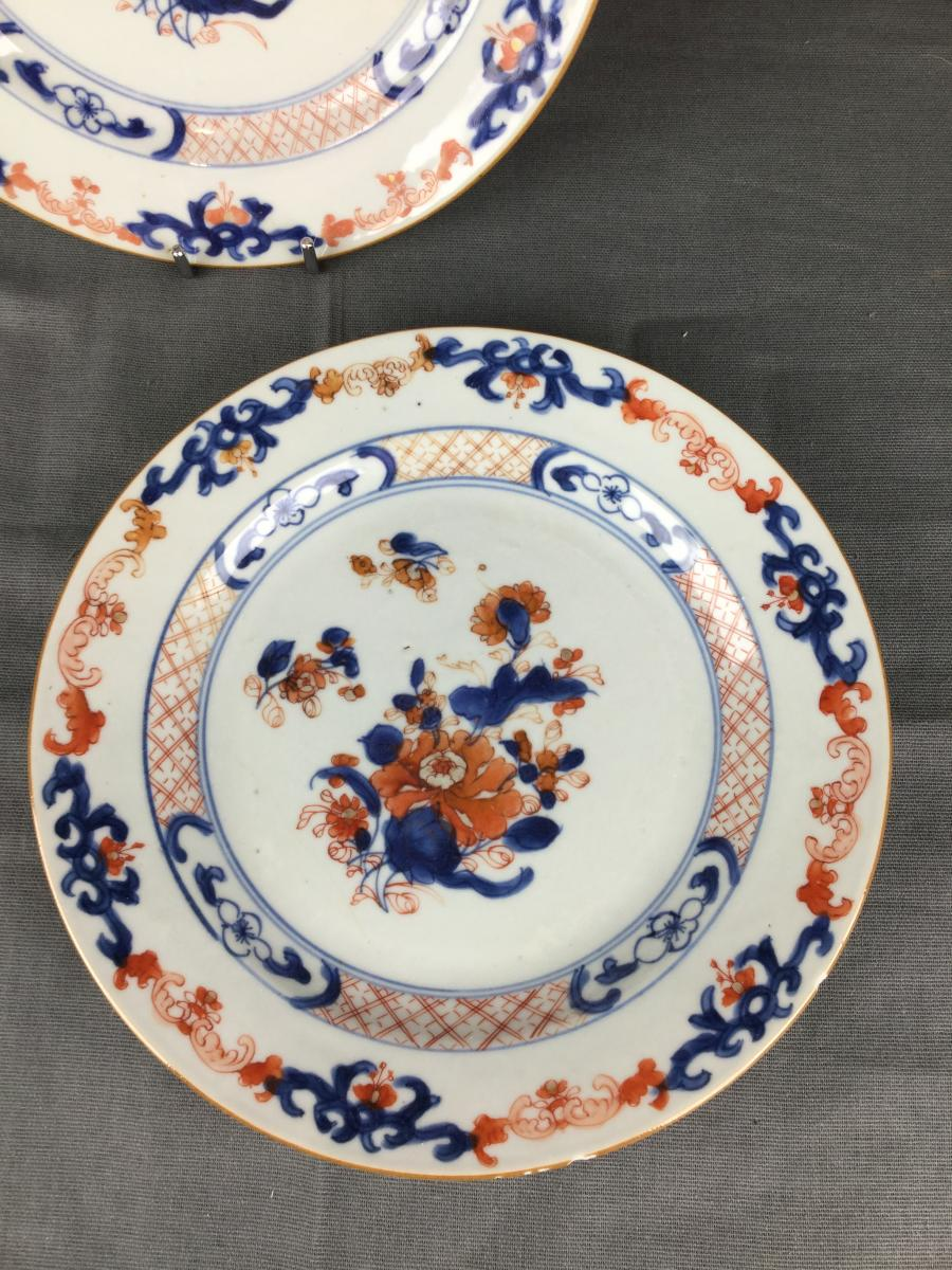 Porcelaine Chine Imari Compagnie Des Indes Orientales XVIIIe Siècle.-photo-1