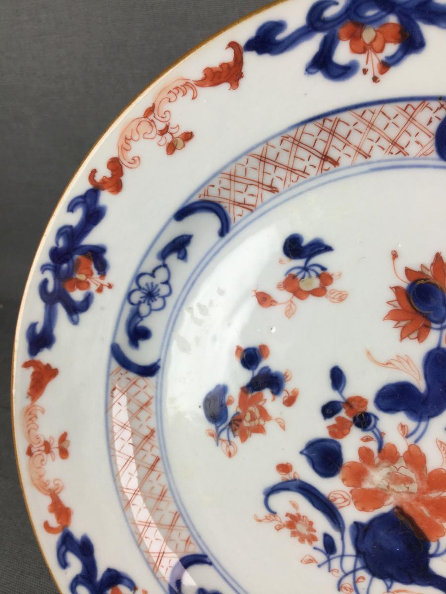 Porcelaine Chine Imari Compagnie Des Indes Orientales XVIIIe Siècle.-photo-2