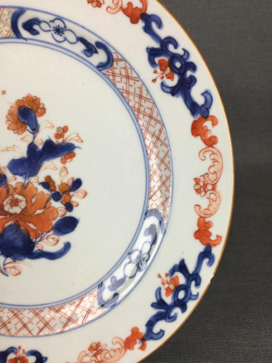 Porcelaine Chine Imari Compagnie Des Indes Orientales XVIIIe Siècle.-photo-3
