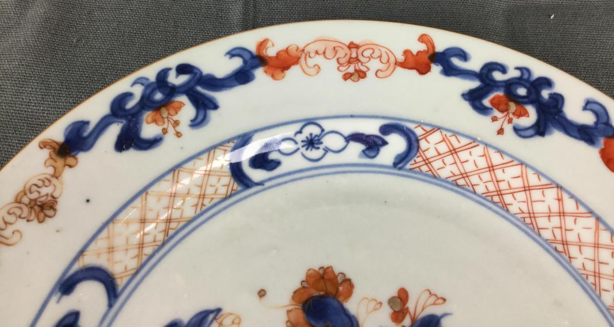 Porcelaine Chine Imari Compagnie Des Indes Orientales XVIIIe Siècle.-photo-4