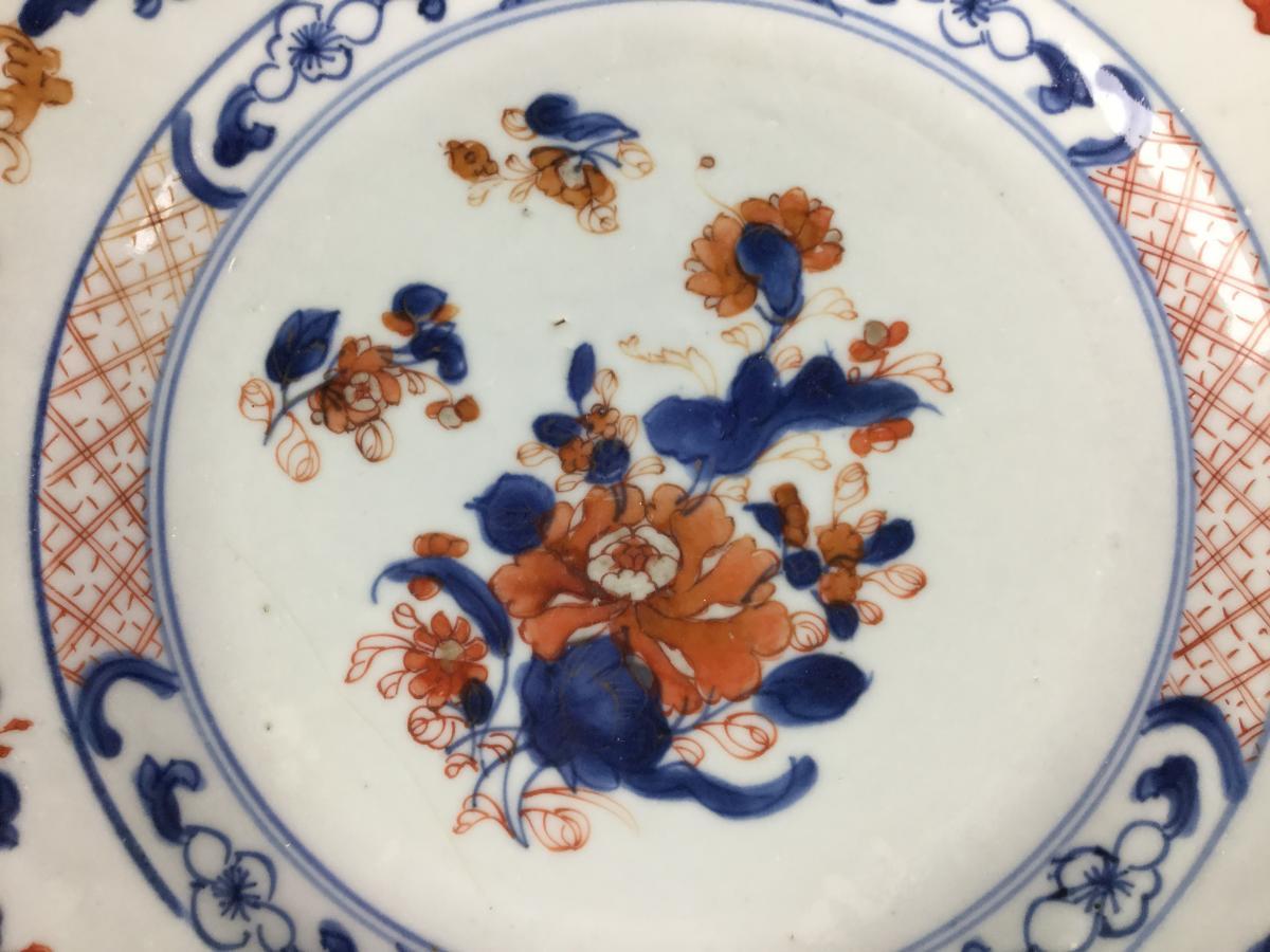 Porcelaine Chine Imari Compagnie Des Indes Orientales XVIIIe Siècle.-photo-7
