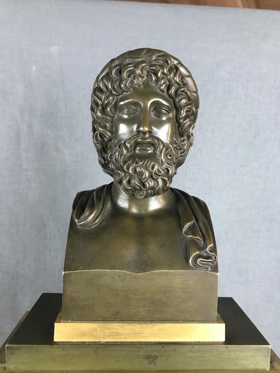 Grande Pendule d'époque Charles X, Zeus Dieu De l'Olympe Vers 1820.-photo-4