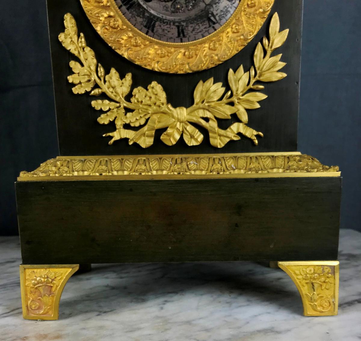 Grande Pendule d'époque Charles X, Zeus Dieu De l'Olympe Vers 1820.-photo-5