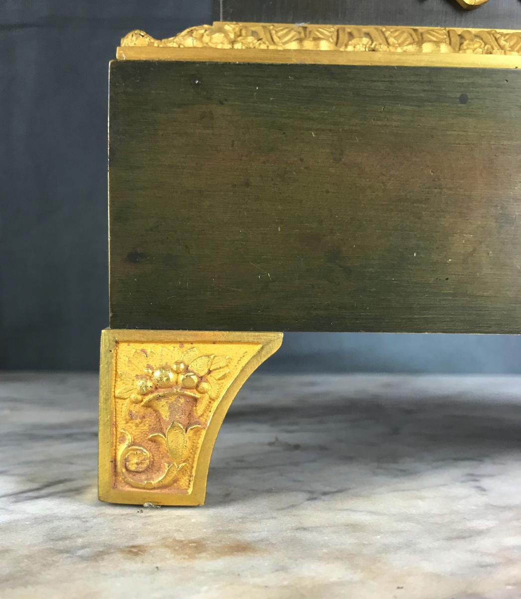 Grande Pendule d'époque Charles X, Zeus Dieu De l'Olympe Vers 1820.-photo-6