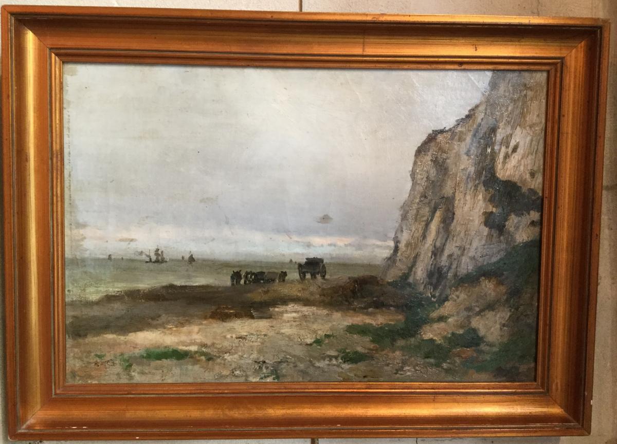Alfred Casile (1848-1909) Bord De Méditerranée.