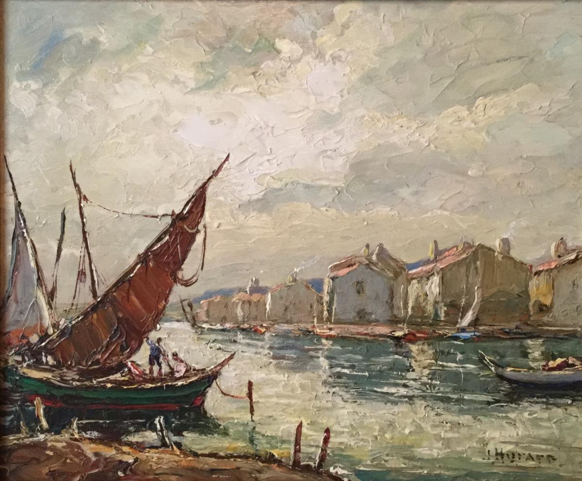 Joseph Hurard 1887-1956, Martigues Le Départ.