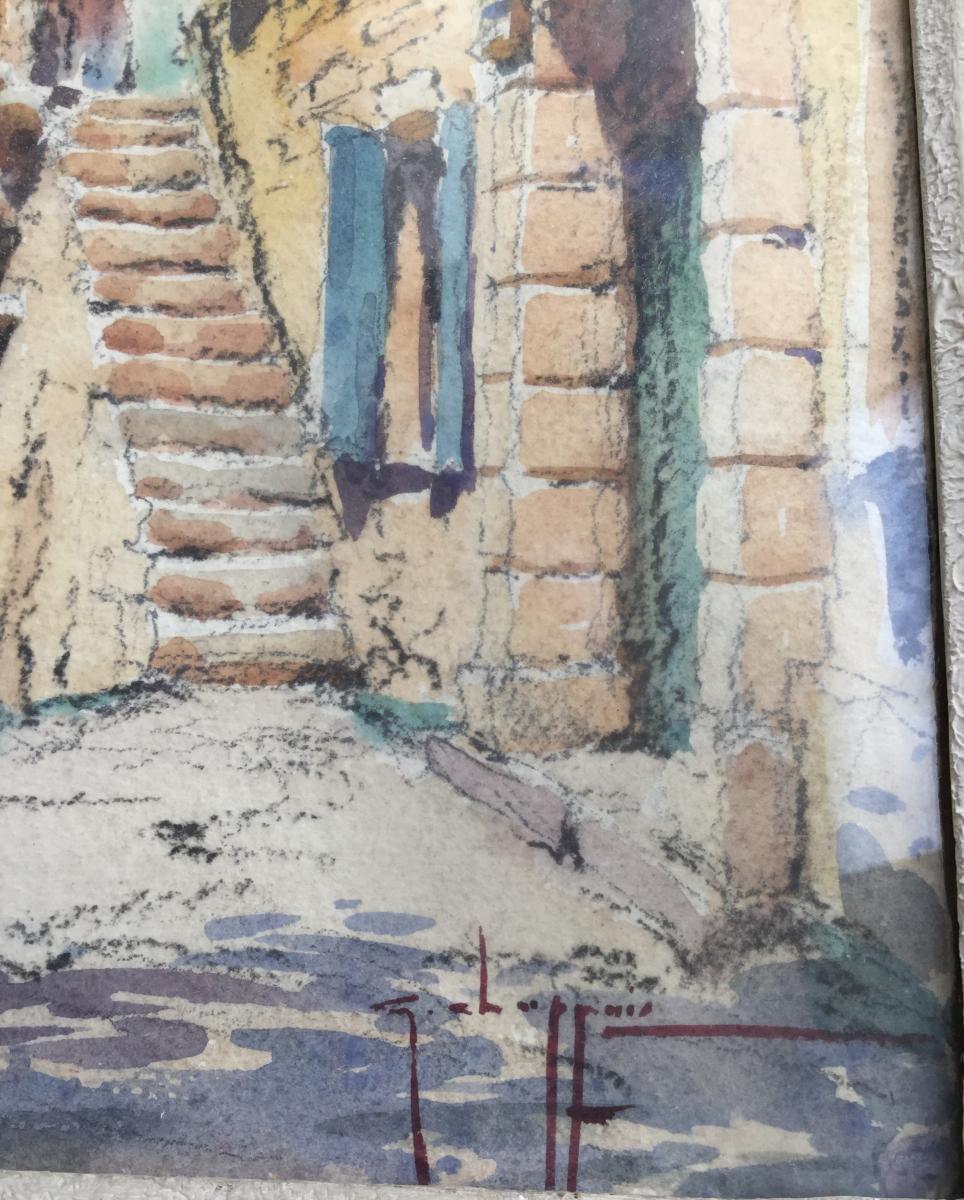 Georges Chappuis Paire D'aquarelles De Vaison La Romaine  -photo-2