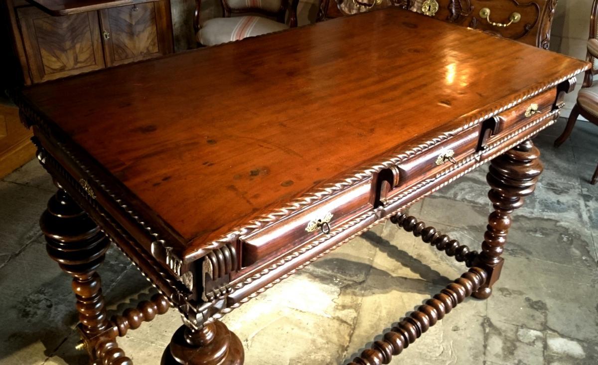 Table De Milieu D'apparat En Palissandre D'époque Louis XIV -photo-3
