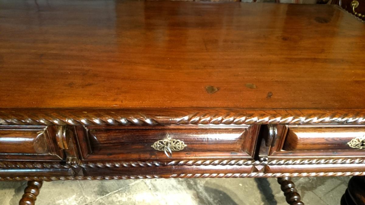 Table De Milieu D'apparat En Palissandre D'époque Louis XIV -photo-1