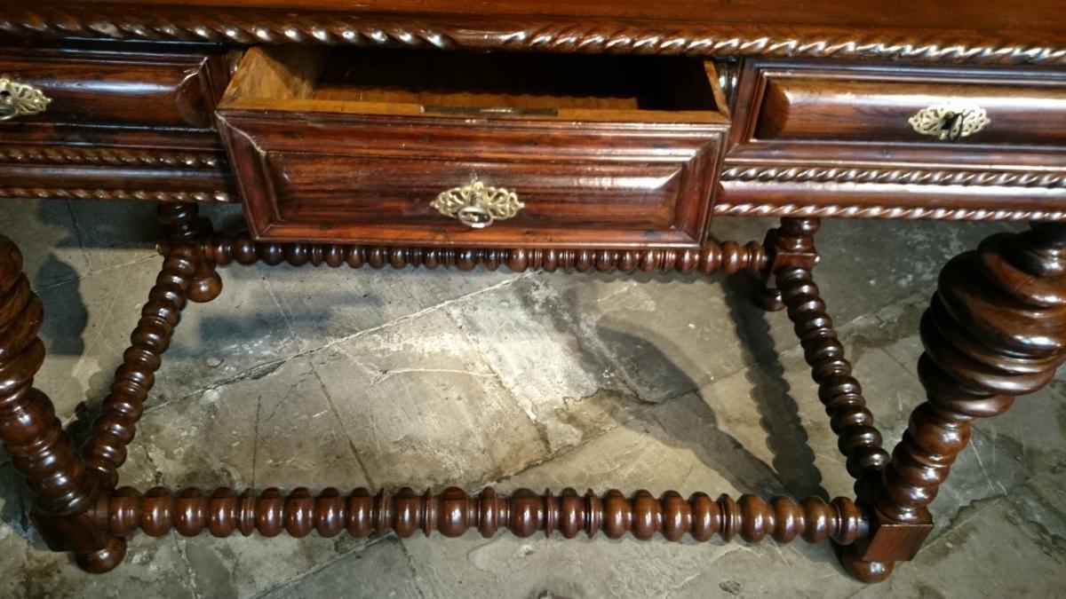 Table De Milieu D'apparat En Palissandre D'époque Louis XIV -photo-6