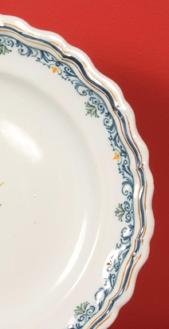 Assiette En Faïence De Moustiers Signée Olérys.Laugier-photo-4