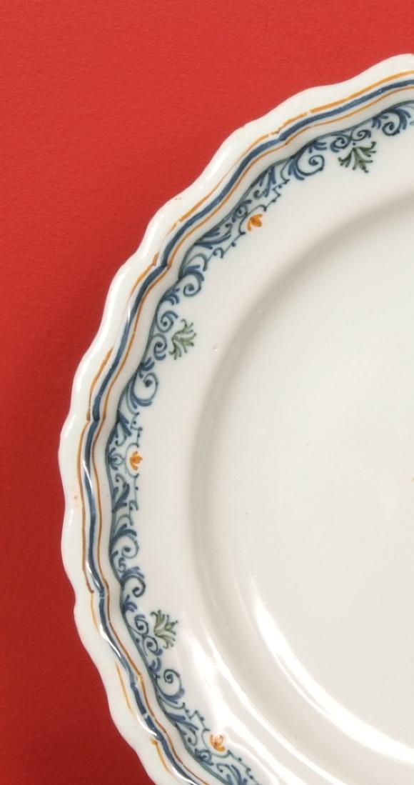 Assiette En Faïence De Moustiers Signée Olérys.Laugier-photo-5