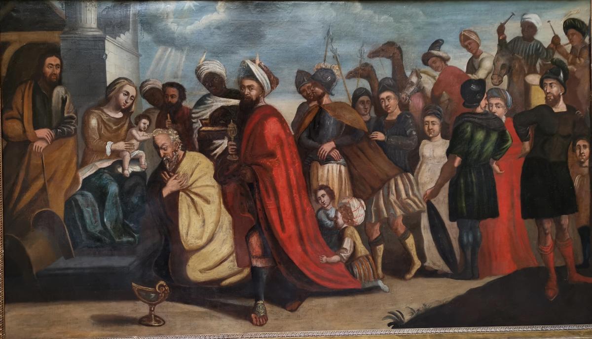 L'adoration Des Mages, école Italienne XVIIe Siècle.-photo-2