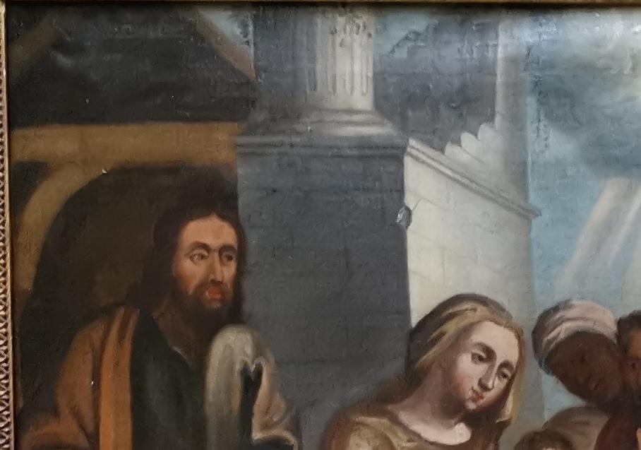 L'adoration Des Mages, école Italienne XVIIe Siècle.-photo-4