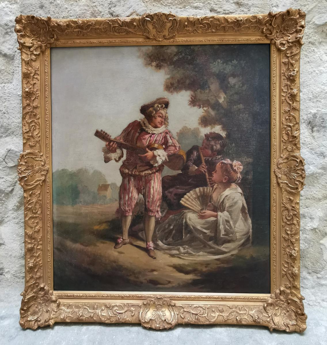 La Sérénade D'après Jean-antoine Watteau