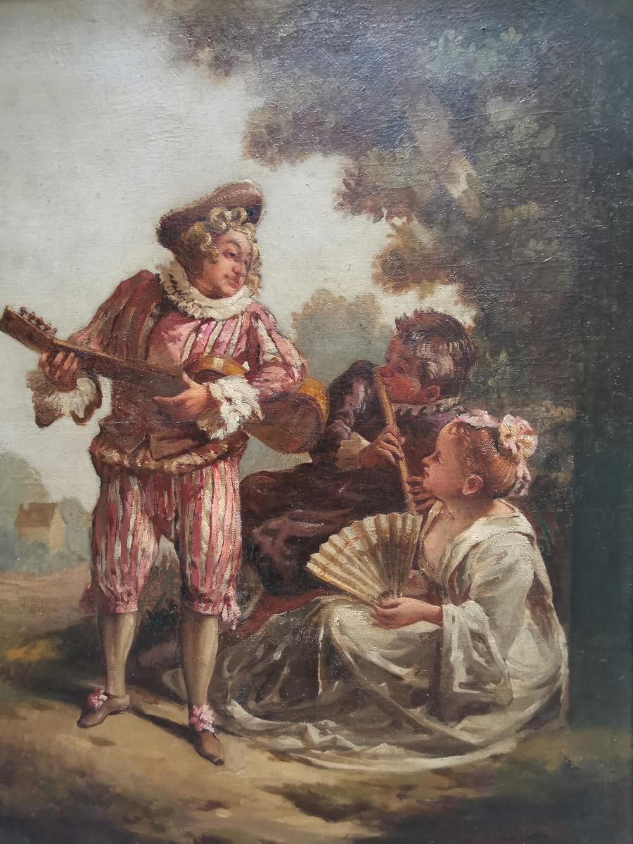 La Sérénade D'après Jean-antoine Watteau-photo-2