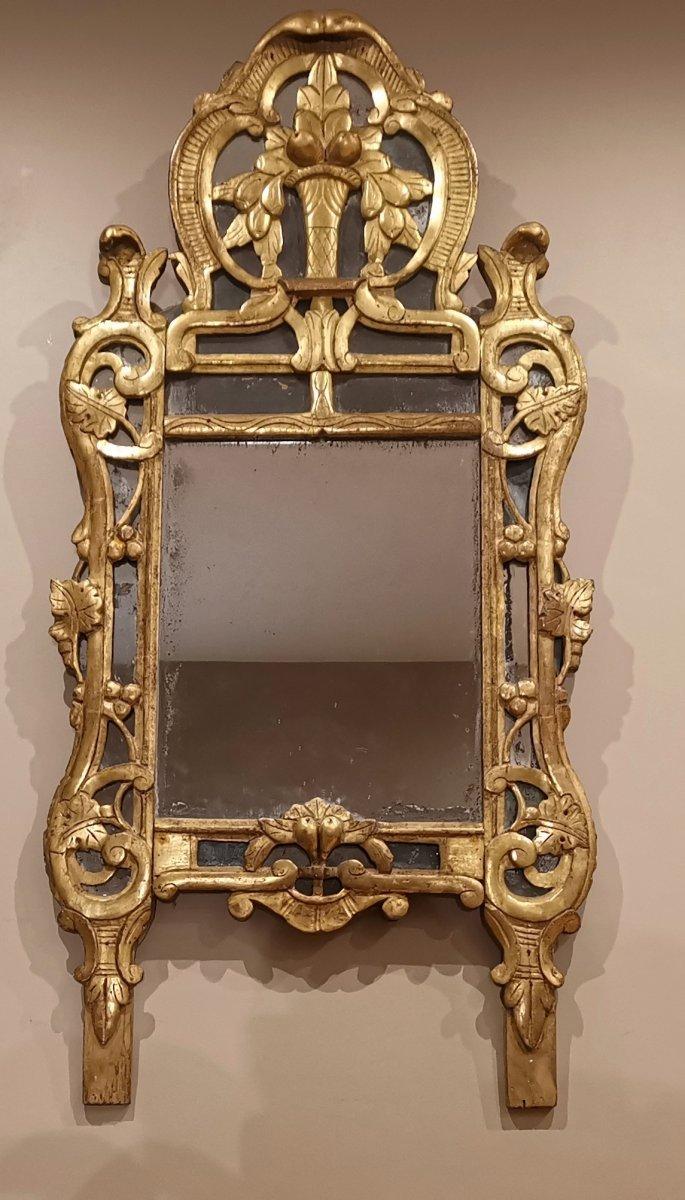 Provencal Mirror Louis XV Mid 18th Century Circa 1760-1770.