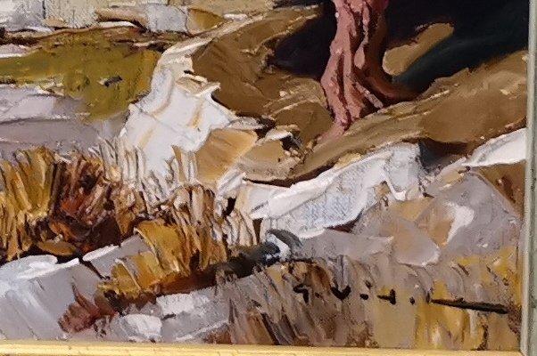 Gustave Vidal, Paysage Provençal, Barbentane, Avignon.