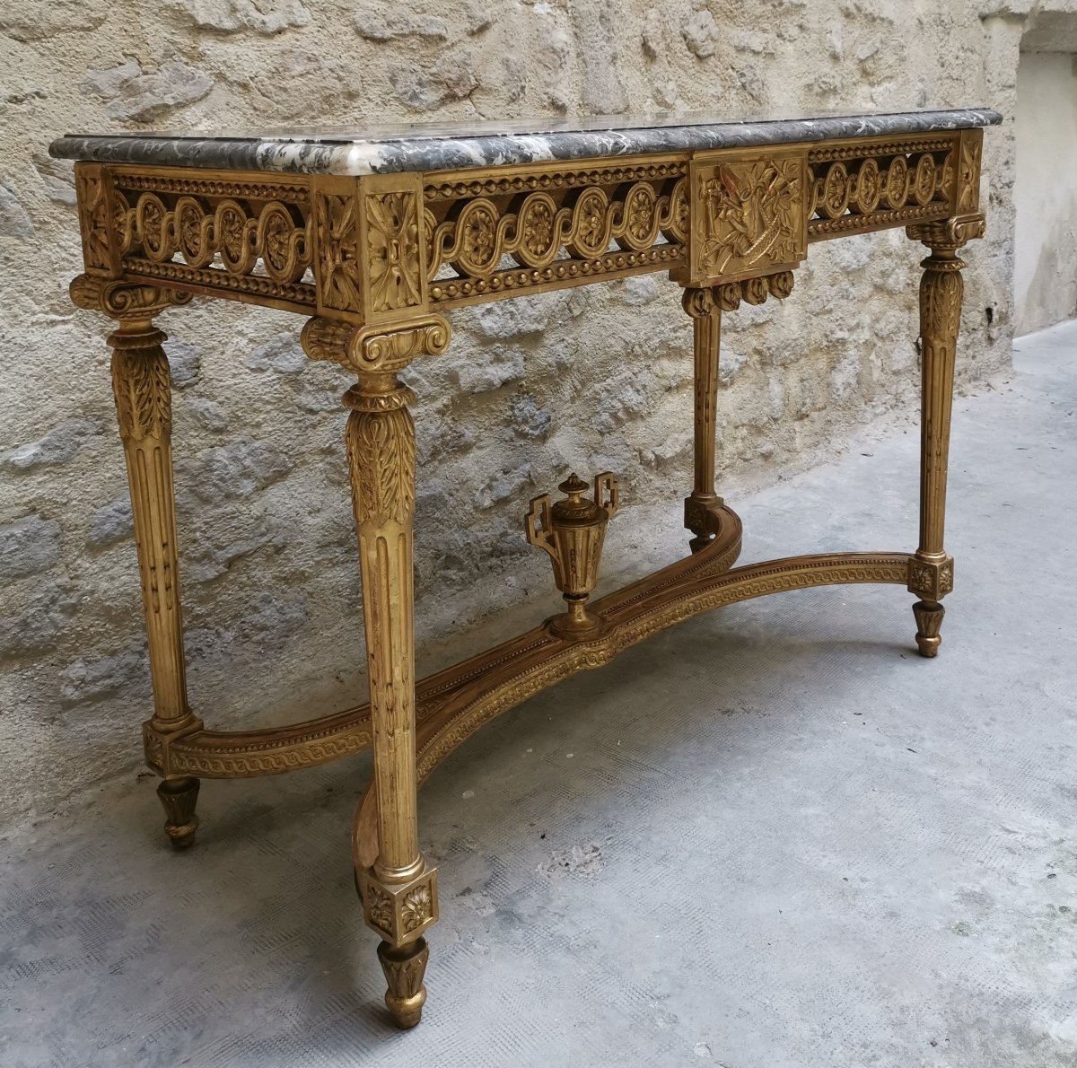Table Console Néoclassique à Quatre Pieds Louis XVI Vers 1800-photo-2
