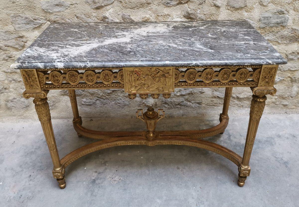 Table Console Néoclassique à Quatre Pieds Louis XVI Vers 1800-photo-3