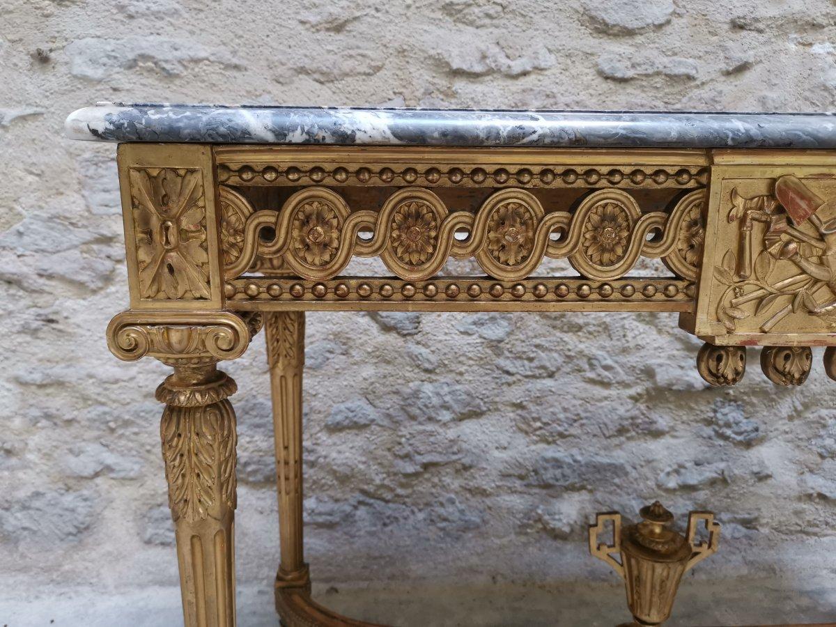 Table Console Néoclassique à Quatre Pieds Louis XVI Vers 1800-photo-1