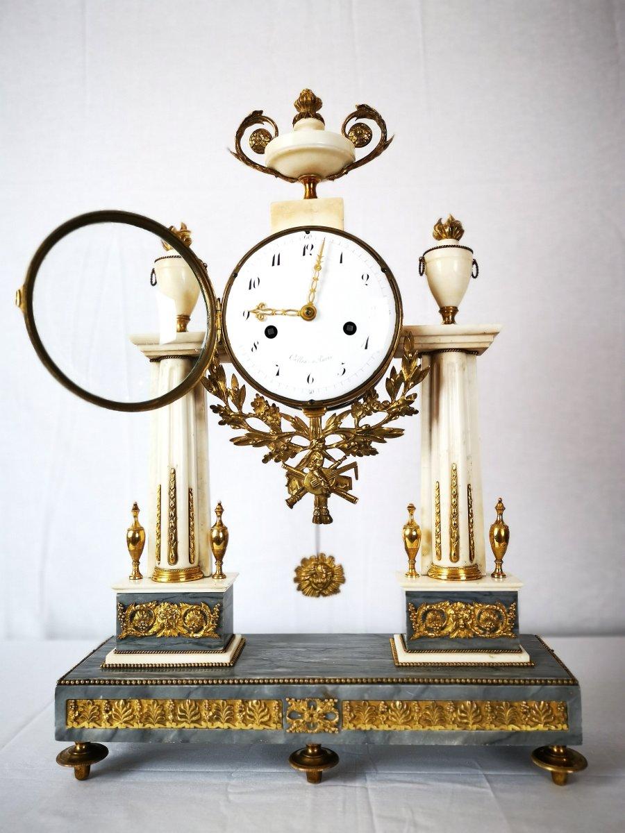 Pendule Portique D'époque Louis XVI Vers 1780-photo-2