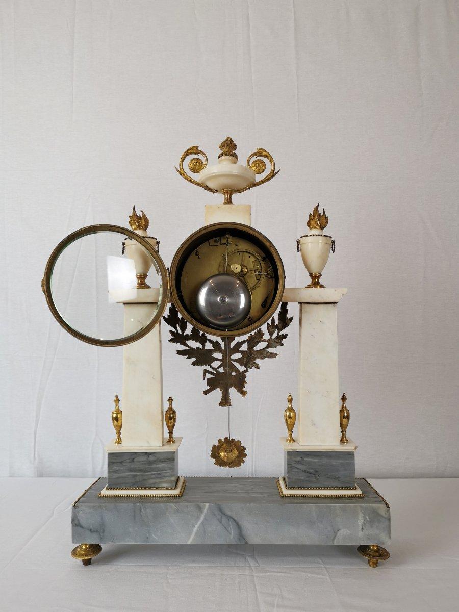 Pendule Portique D'époque Louis XVI Vers 1780-photo-3