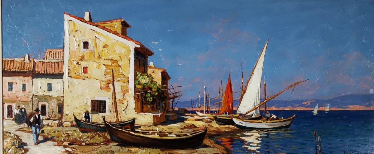 Gustave Vidal - Maison de pêcheurs étang de Biguglia Corse.-photo-2