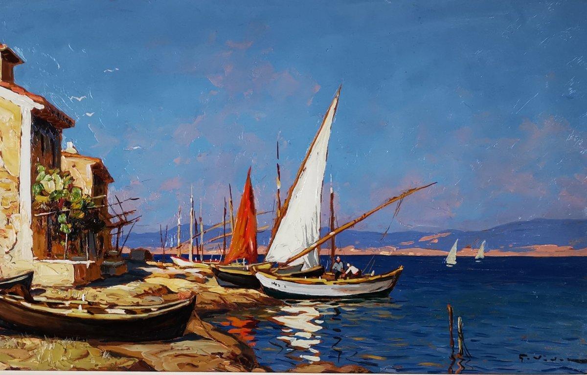 Gustave Vidal - Maison de pêcheurs étang de Biguglia Corse.-photo-1
